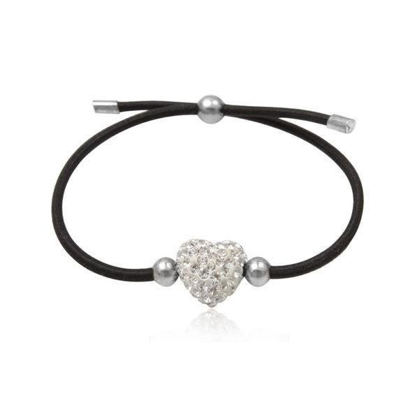 Bracelet stretch noir et Cristal pur