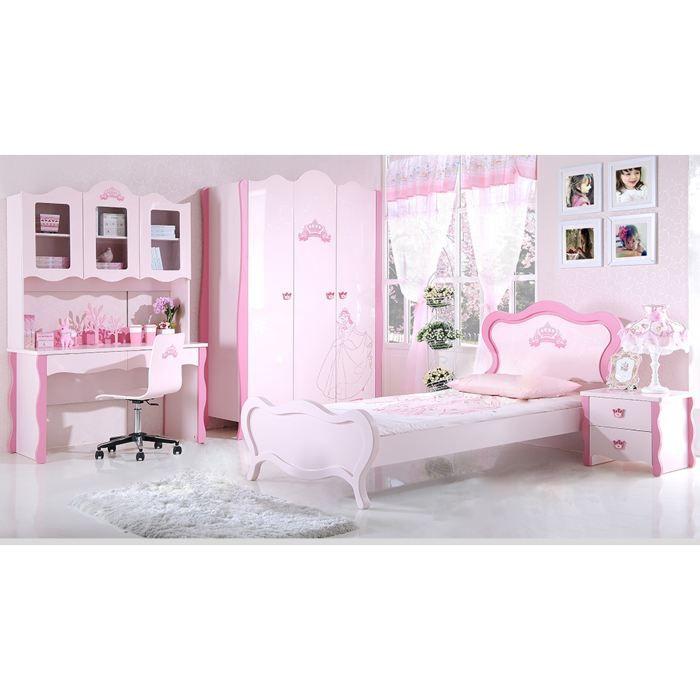 Attrayant STRUCTURE DE LIT Chambre Enfant Complete Princesse   Rose