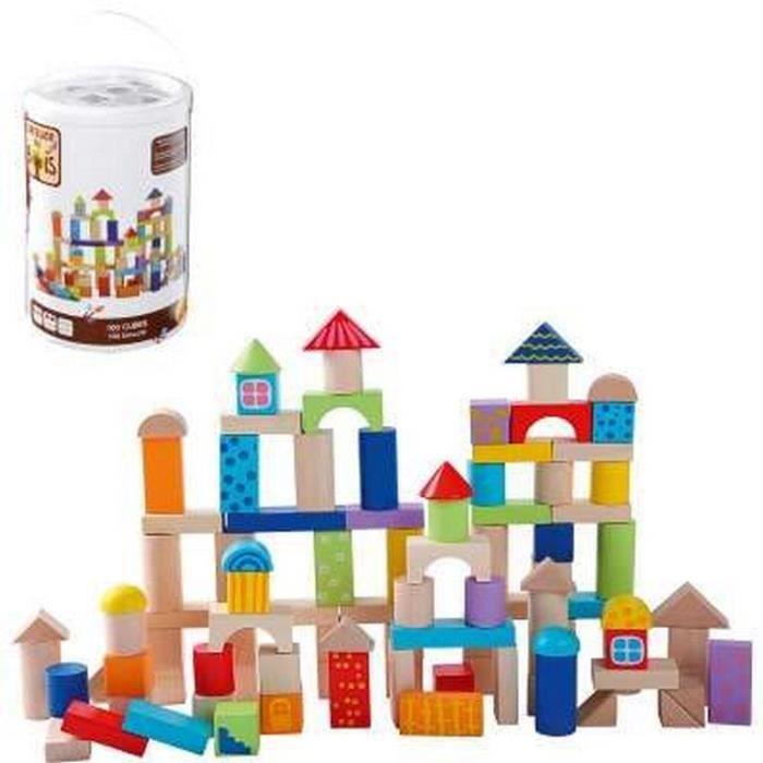 baril 100 cubes en bois achat vente assemblage construction cdiscount. Black Bedroom Furniture Sets. Home Design Ideas