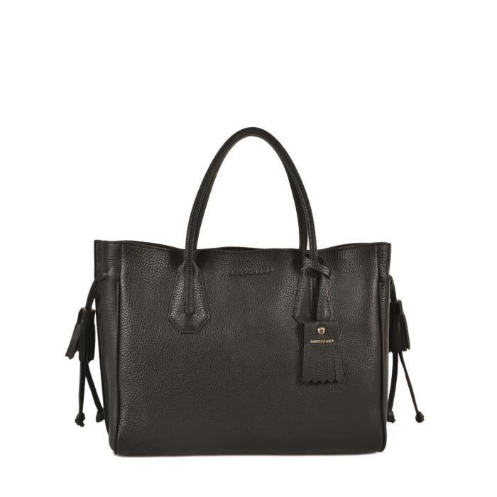 3e18b8993c Main Penelope Porté Noir Femme Achat En Sac Cuir Longchamp tAZ7W