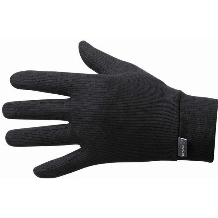 cb4246db715c Sous-gants Odlo Unisexe Warm... Noir Noir - Achat   Vente sous-gants ...