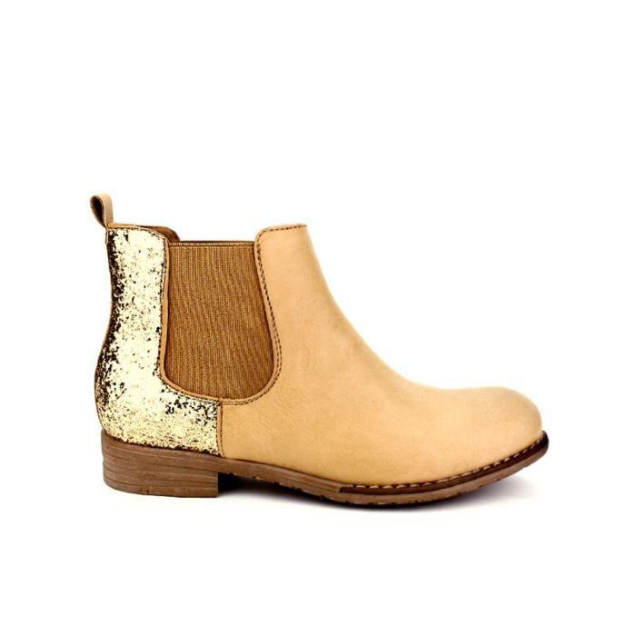 bottine - boots, Bottines Beige Chaussures Femme, Cendriyon
