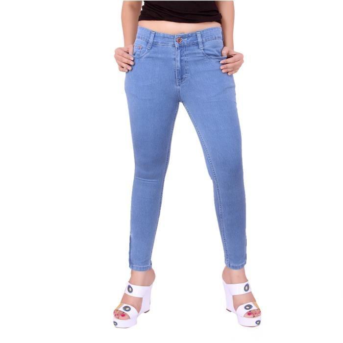 cheville Jeans Silky Pour Pant taille Femmes T5XIM Denim haute Fit qwfTBFHX