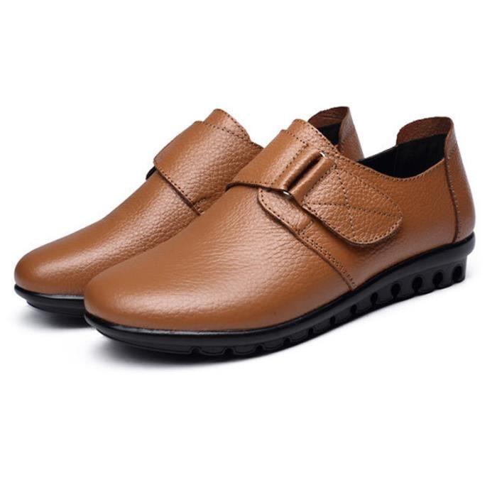 Chaussure Chaussures Été BDG Cuir Comfortable Chaussures Printemps Femme Femme XZ063Jaune43 0x5qAp4I