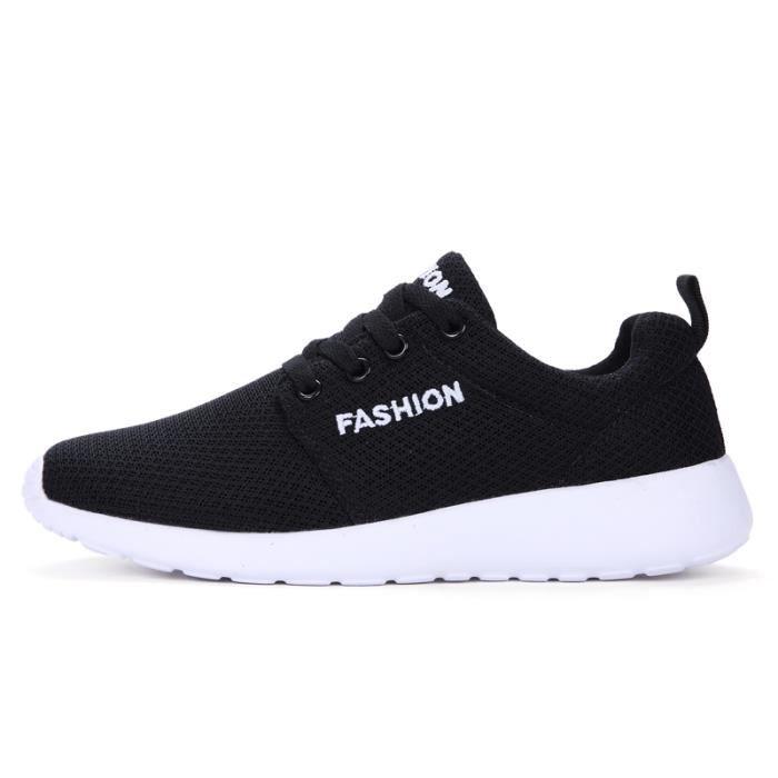 Basket Homme Femme Chaussures de sport Running chaussure 2018 Nouveau-Noir JMSMwE
