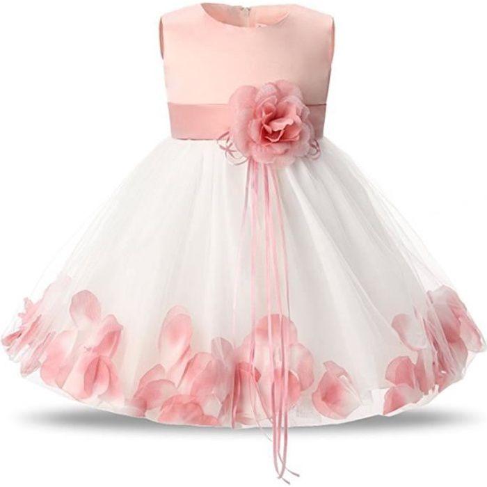 99b2765eadebb WAIWAIZUI Petite Fille Robe de Baptême bébé Florale Robe de Soirée ...