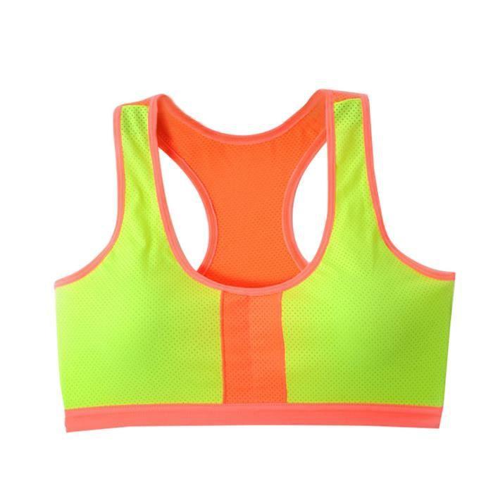 Stretch Jaune Workout Sdm70830255ye Bra Sports Rembourré Débardeur Zareste®femmes Yoga Fitness Racerback 67OvwxZEqZ