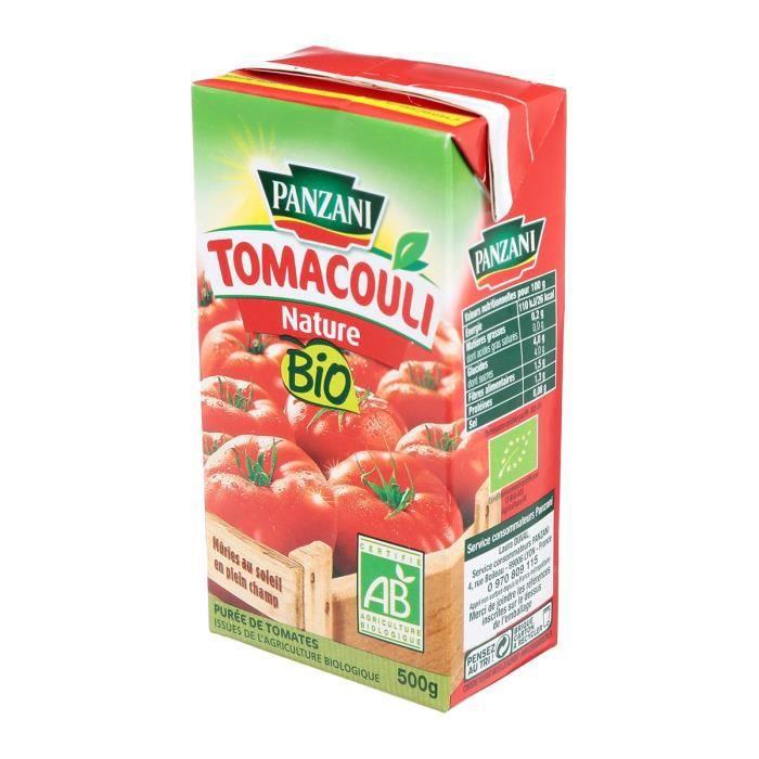 SAUCE CHAUDE PANZANI Tomacouli nature bio - 500g