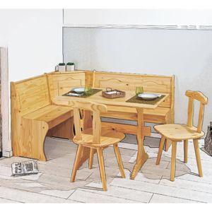 Table avec banc angle achat vente pas cher for Table cuisine banc