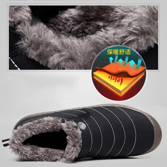 Hiver Bottes de neige Mode d'amant Bottes chaud Casual Bottes plates Bottes imperméables 36-48