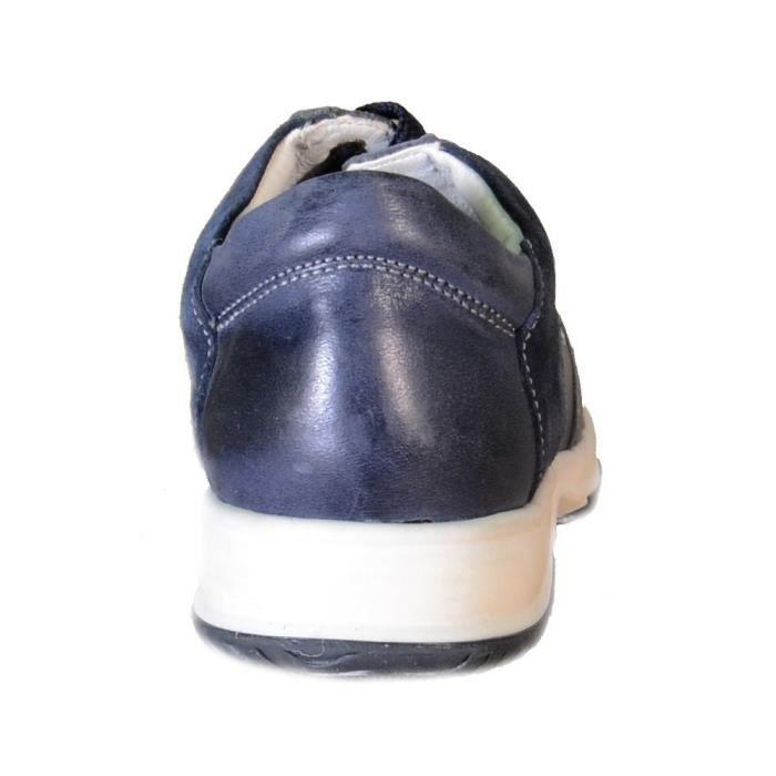 Primigi - Primigi Chaussures pour Garçon Bleu Cuir Toile 82762 ouW8Q4ovJa