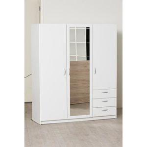 ARMOIRE DE CHAMBRE VARIA Armoire de chambre style contemporain blanc
