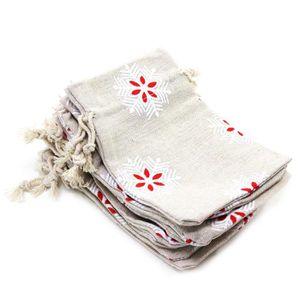 POCHETTE CADEAU Jute Lavande Pochette de lin Sachet coton Drawstri