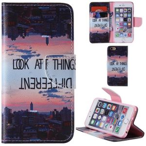 COQUE - BUMPER ® iPhone 6S-6 Plus Coque PU Leather Flip Cover Wal