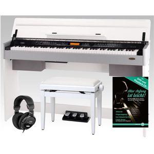 piano numerique blanc pas cher achat vente soldes d s le 10 janvier cdiscount. Black Bedroom Furniture Sets. Home Design Ideas