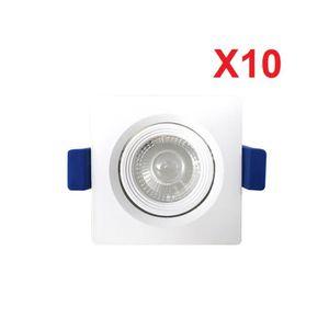 SPOTS - LIGNE DE SPOTS (Lot de 10) Downlight Spot LED encastrable intérie