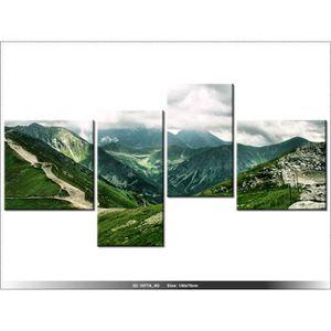 TABLEAU - TOILE 140 x 70cm - PAYSAGE - MONTAGNE - TABLEAU MULTI PA