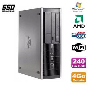 UNITÉ CENTRALE  PC HP Compaq 6005 Pro SFF AMD 3GHz 4Go DDR3 240Go