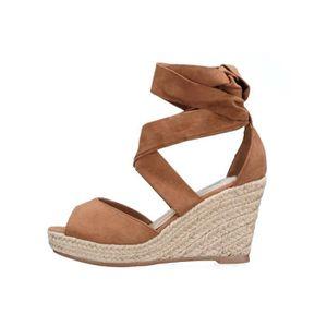 ebcb37d64562 SANDALE - NU-PIEDS Sandale compensee Lily shoes 183 Camel