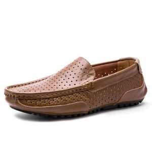 Mocassin Hommes Cuir Loafer Detente Casual Chaussure JXG-XZ089Marron44 f1jkupy