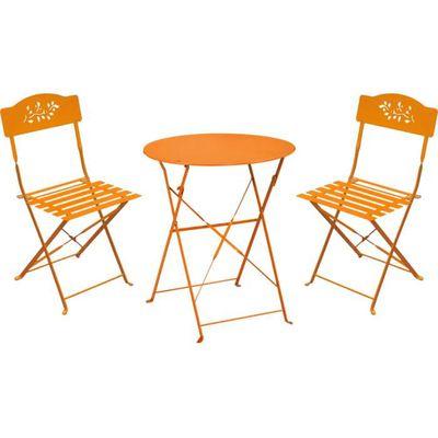 Ensemble de jardin Diana 1 table + 2 chaises Orange - Achat / Vente ...