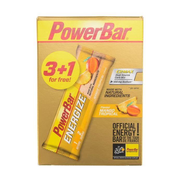 POWERBAR Barres Énergétiques Energize Mangue Tropicale 3+1 - 4x55g
