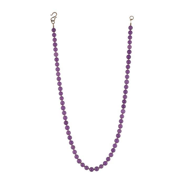 Womens Beads Jewellery Purple Jade Strand Necklace For (12515) KFBOL