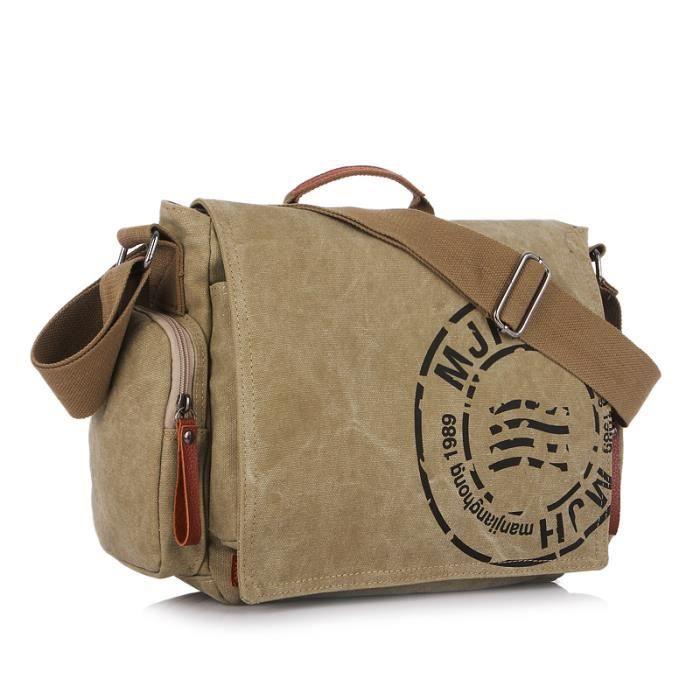 sac à main Postman hommes Toile Hommes Mode Casual Impression bandoulière Sacs-1041