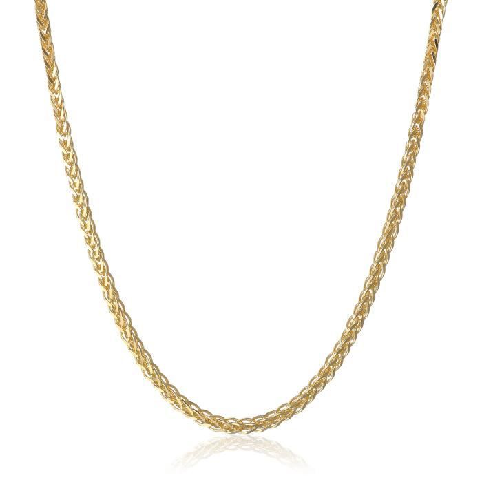 14k Yellow Gold 1.5mm Spiga Chain Necklace, 18 I2KSK