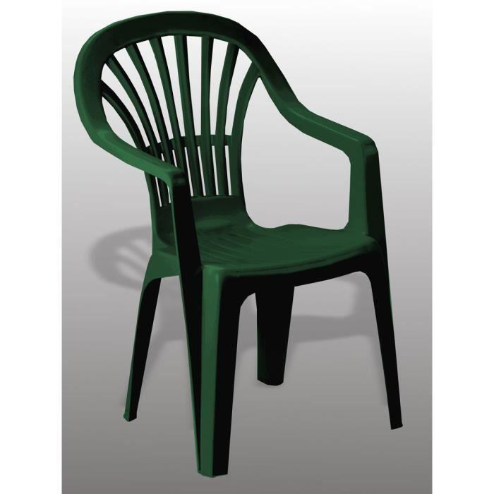 fauteuil de jardin en plastique vert achat vente pas cher. Black Bedroom Furniture Sets. Home Design Ideas