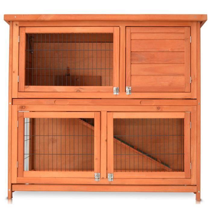 86c86a3bf8c61a Zooprimus 115 x 64 x 106 cm Cage Clapier lapin Extérieur en bois de Haute  Qualité pour lapins Maison de lapin Mukkel XL
