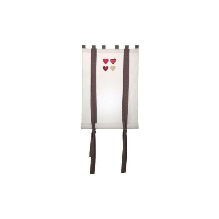 Rideau enrouleur 80x160 love ALIZEA Blanc - Achat / Vente rideau ...