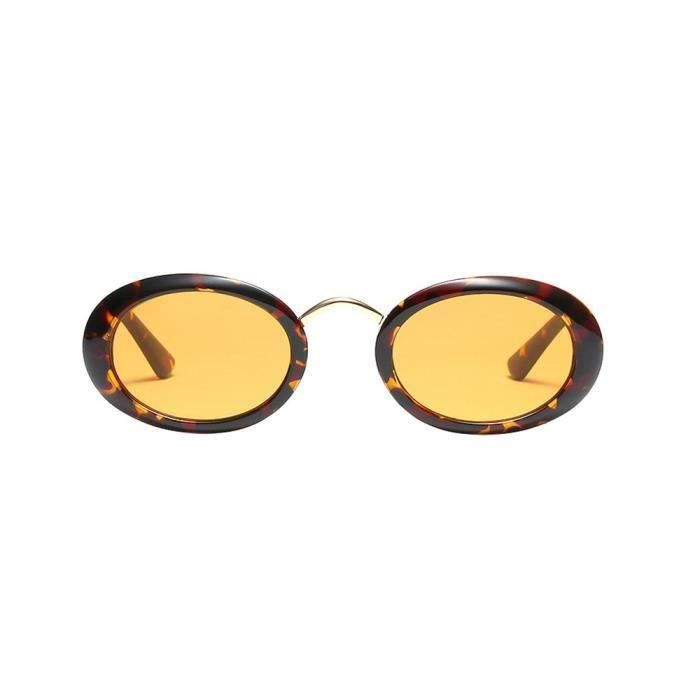 LUNETTES DE SOLEIL Femmes Vintage Ovale Forme Lunettes de soleil rétr