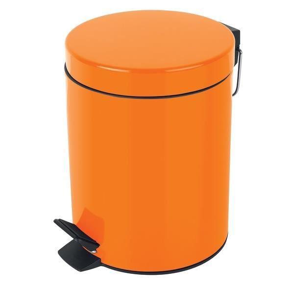 Parfait SYDNEY Poubelle Salle De Bain   25x17x22,5cm   Orange