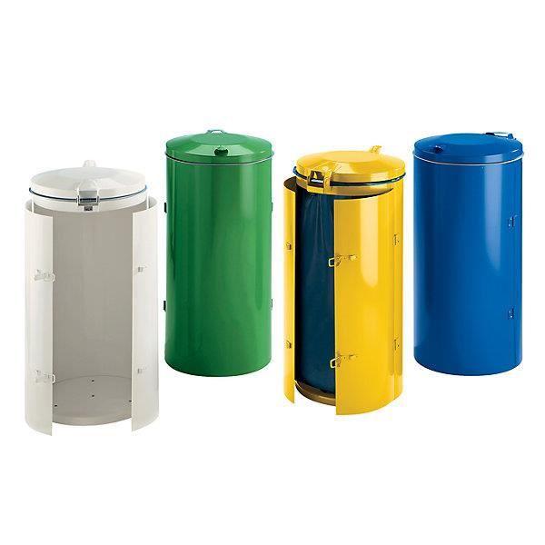 POUBELLE - CORBEILLE Collecteur de déchets en tôle d'acier pour sac de