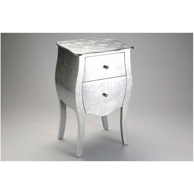 table de chevet baroque argent e arlette achat vente chevet table de chevet baroque arg. Black Bedroom Furniture Sets. Home Design Ideas