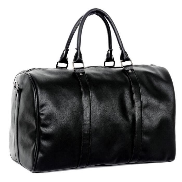 89337b9056 Sac Sacoche Homme Luxe Design Bagage à Main Valise Cabine Collection  Exclusive-Chic Noir