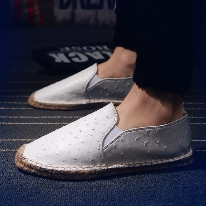 Femmes Chaussures Plates PU Mode Hommes Blanc ISXXc