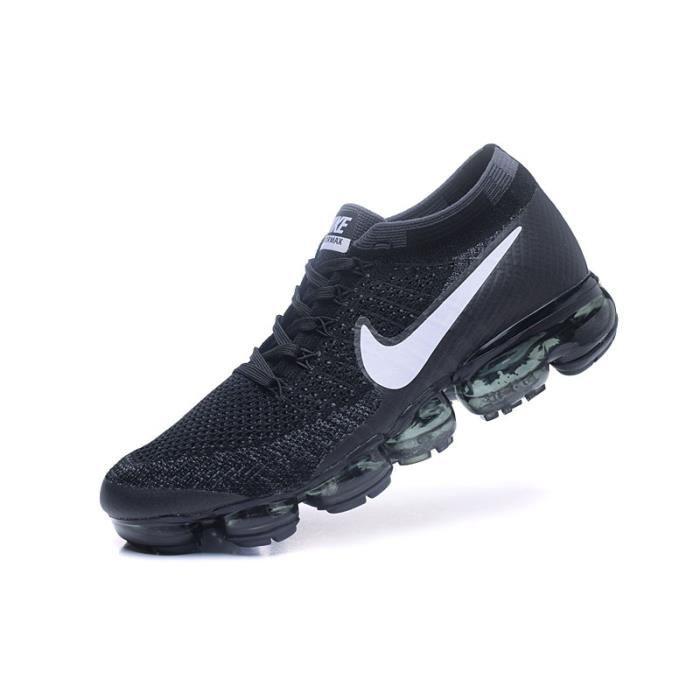 Nike Noir Vapormax Air De Running Chaussures Flyknit Blanc Baskets KrnRpfCK