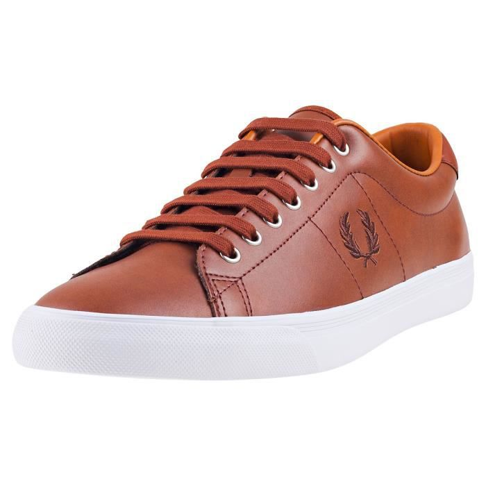Fred Perry Underspin Hommes Baskets bronzer - 10 UK