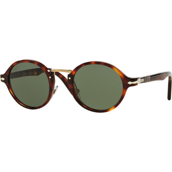 47e3c1901a02c7 Lunettes de soleil Persol 3129S Typewriter Edition Tabac Vert - 46 ...