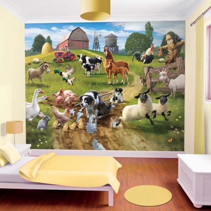 Papier peint enfant animaux achat vente papier peint - Achat papier peint ...