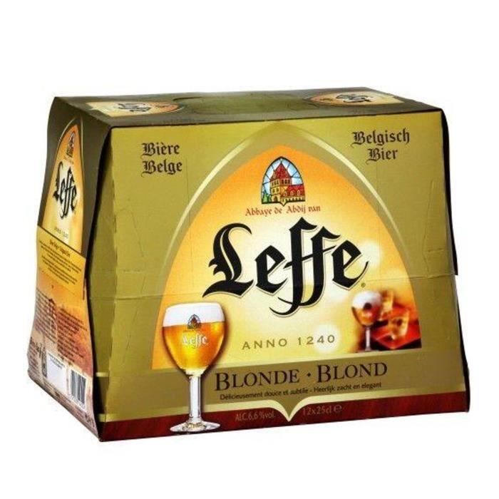 BIÈRE LEFFE Bière blonde - 12 x 25 cl - 6,6 %