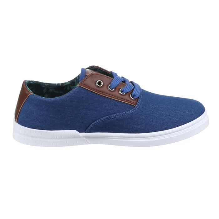 homme chaussures flâneurs Sneakers loisirs chaussures blanc bleu 43 OGU17Kkn