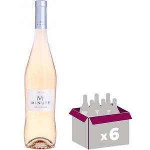 VIN ROSÉ Lot de 6 Bouteilles Minuty M Côtes de Provence 201