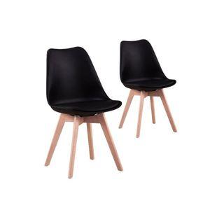 CHAISE 2 chaises scandinaves ANDREA - Couleur - Noir