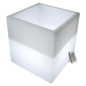 CHAMPAGNE Cube Sceau à Champagne lumineux rechargeable LED 4