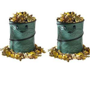 SAC À DÉCHETS VERTS  Lot de 2 sacs à déchets de jardin - pop up bag 80