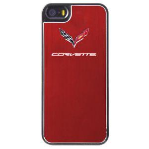 HOUSSE - ÉTUI CORVETTE - coque métallique Phone 5/5S - Rouge