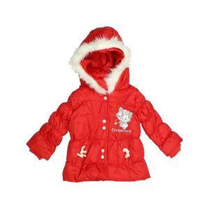 2a2f16406735a Doudoune bébé fille HELLO KITTY 12 mois rouge hiver - vêtement bébé  1086483